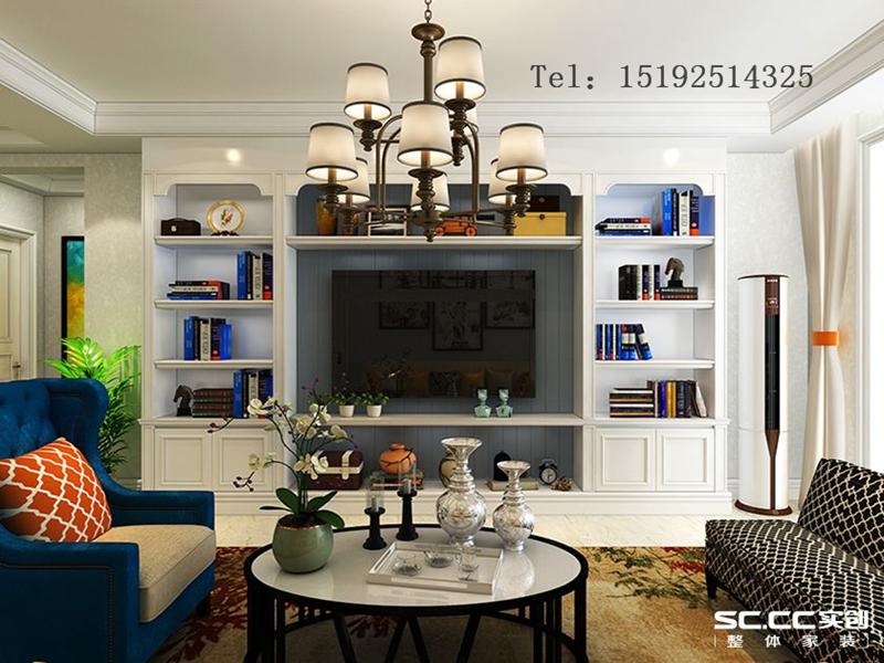 三居 远洋山庄 青岛 装修 美式 客厅图片来自快乐彩在远洋山庄120平美式三居室精装修的分享