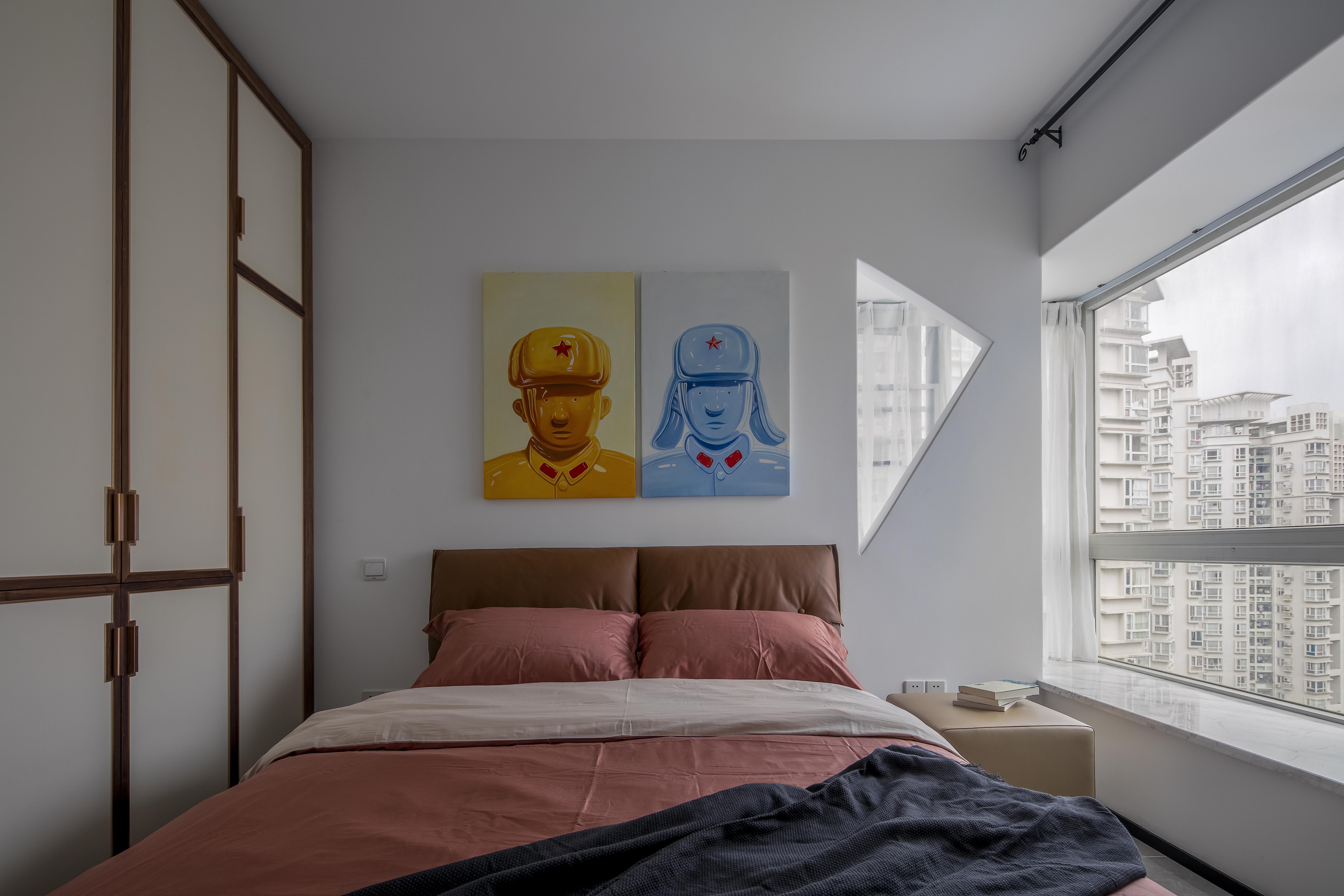 简约 混搭 小资 卧室图片来自盒子设计在英雄的分享