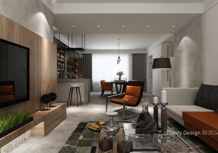三居 现代 客厅图片来自百家装饰LL在浦江御景湾的分享