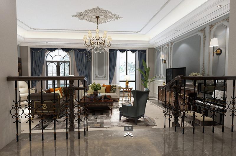 保利林语溪 别墅装修 新古典欧式 腾龙设计 客厅图片来自腾龙设计在保利林语溪别墅装修新古典风格的分享