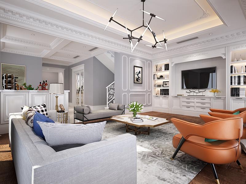 长泰西郊 别墅装修 欧式古典风 腾龙设计 客厅图片来自腾龙设计在长泰西郊别墅项目装修新古典的分享