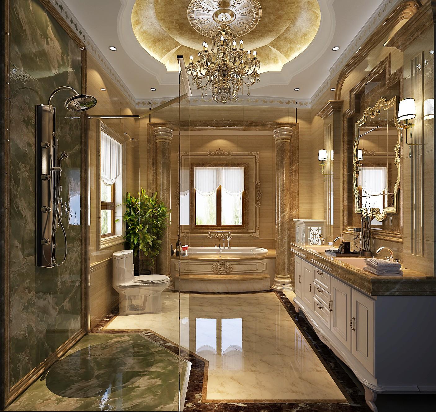 卫生间图片来自北京高度国际在格拉斯小镇奢华欧式风格的分享