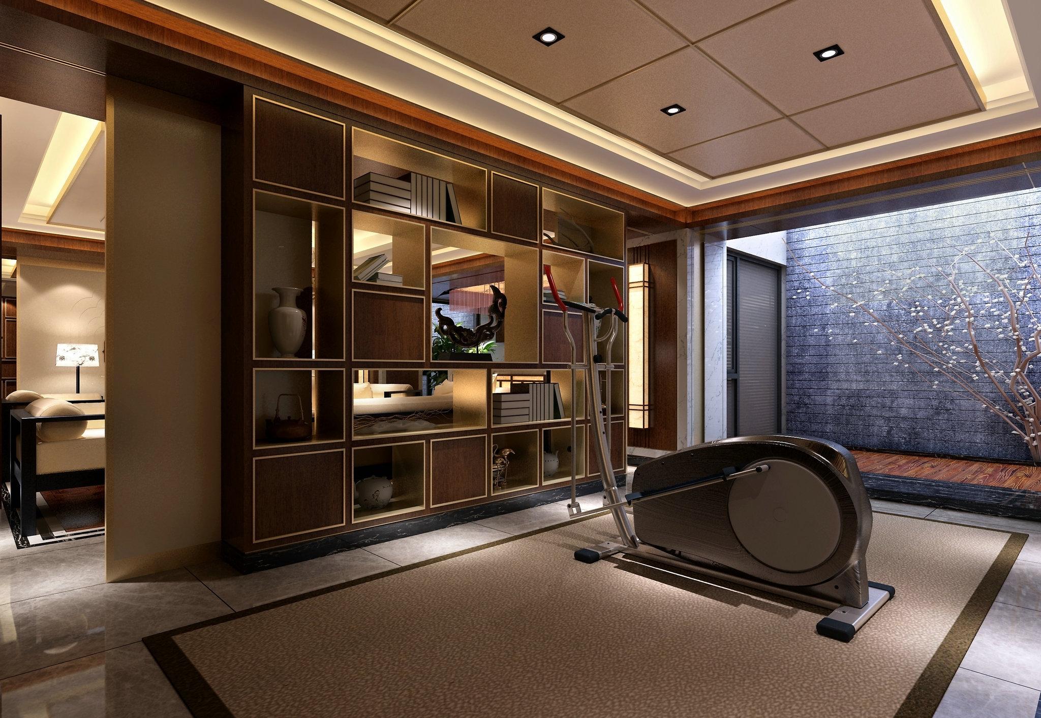 国宾一号 别墅装修 腾龙设计 中式风格 书房图片来自腾龙设计在国宾一号别墅装修欧美风格设计的分享