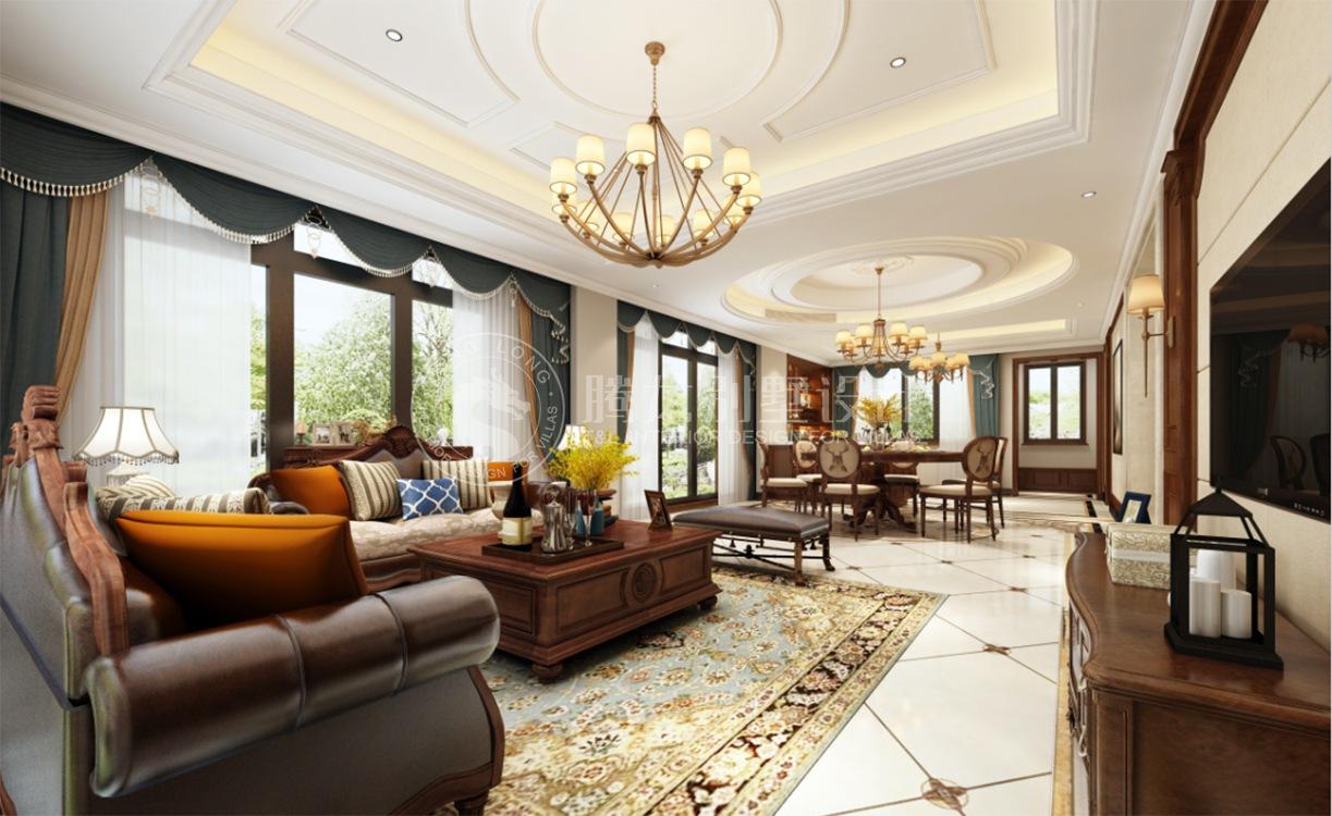 路劲翡丽湾 别墅装修 新古典 腾龙设计 客厅图片来自腾龙设计在路劲翡丽湾350平别墅新古典设计的分享
