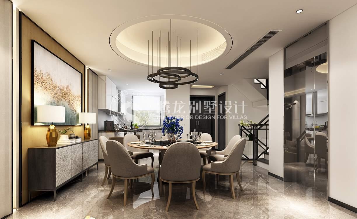 陆家嘴红醍 别墅装修 现代风格 腾龙设计 餐厅图片来自腾龙设计在陆家嘴红醍半岛360平别墅装修的分享