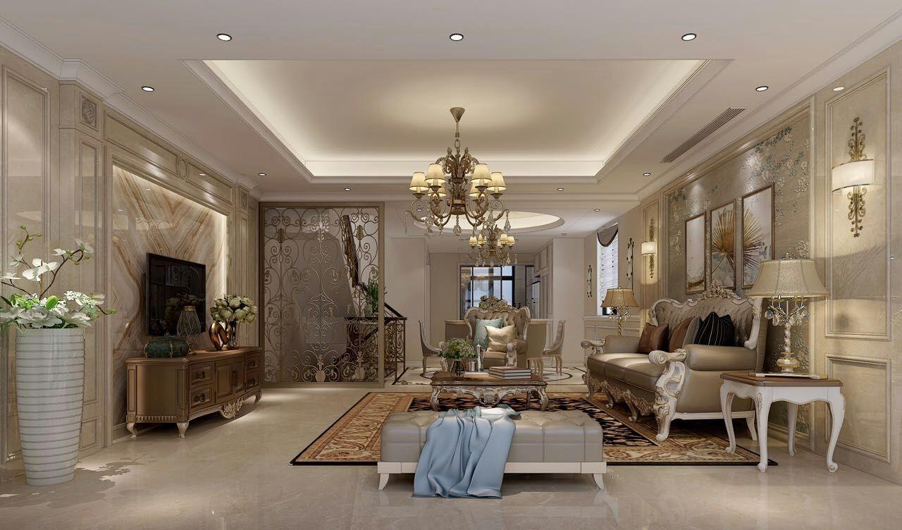 湖畔天下 别墅装修 现代风格 腾龙设计 客厅图片来自腾龙设计在湖畔天下300平别墅项目装修设计的分享