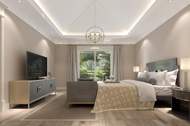 长泰西郊 别墅装修 欧式古典风 腾龙设计 卧室图片来自腾龙设计在长泰西郊别墅项目装修新古典的分享