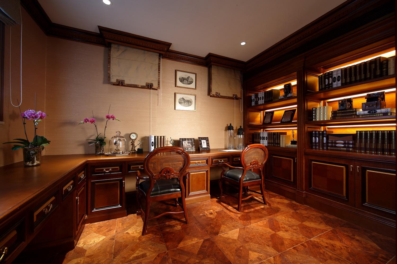 东郊紫园 别墅装修 美式古典 腾龙设计 书房图片来自腾龙设计在东郊紫园别墅装修美式古典风格的分享