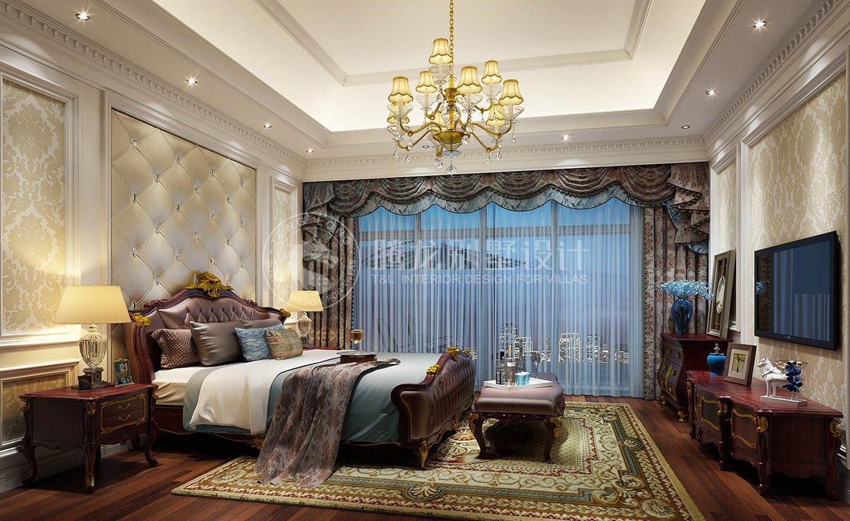 康桥半岛 别墅装修 欧美风格 腾龙设计 卧室图片来自腾龙设计在康桥半岛350平别墅装修简美风格的分享