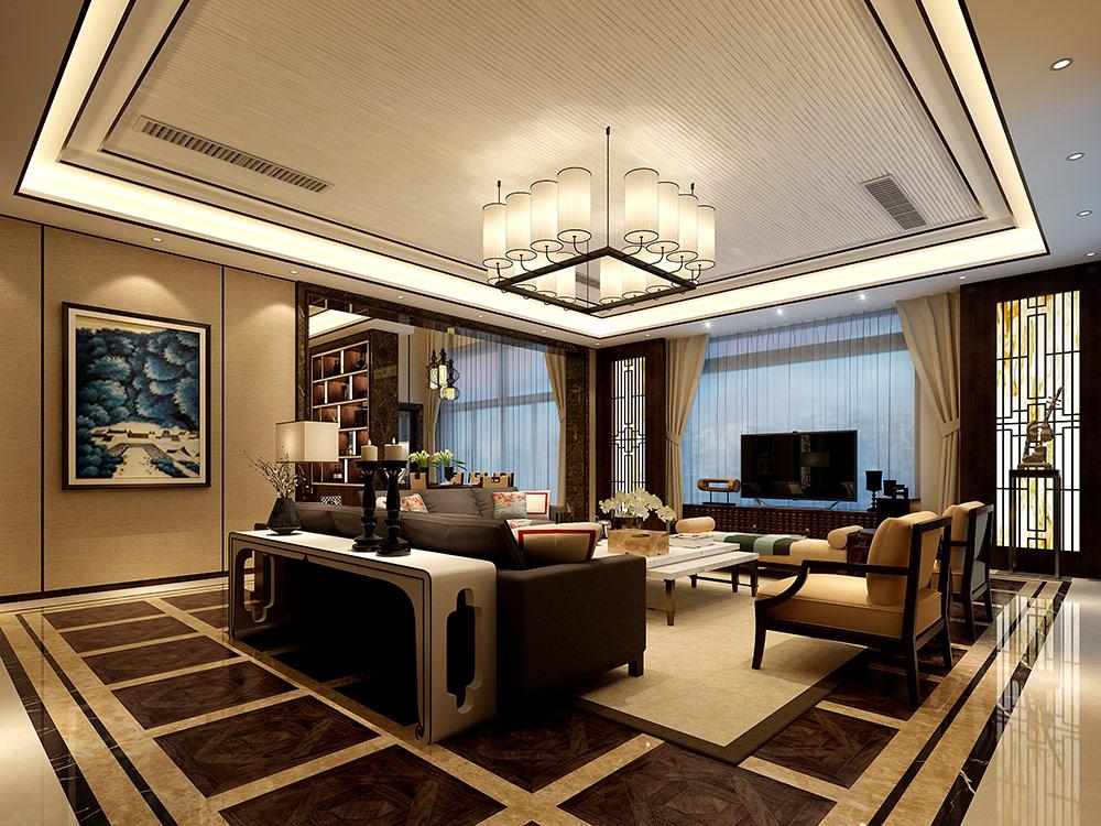 宝华源墅 别墅装修 美式风格 腾龙设计 客厅图片来自腾龙设计在宝华源墅别墅装修美式风格设计的分享