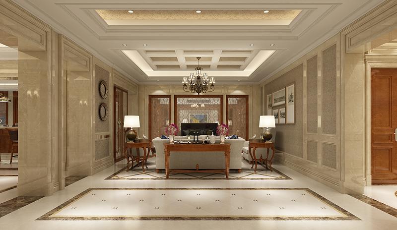 大华梧桐墅 大公馆别墅 欧式古典 腾龙设计 客厅图片来自腾龙设计在大华西郊别墅装修新古典设计的分享