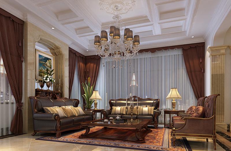 东郊紫园 别墅装修 欧式风格 腾龙设计 客厅图片来自腾龙设计在东郊紫园600平别墅欧式风格设计的分享