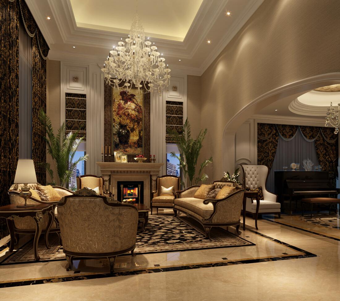 金臣别墅 新古典风格 腾龙设计 客厅图片来自腾龙设计在金臣别墅项目装修法式风格设计的分享