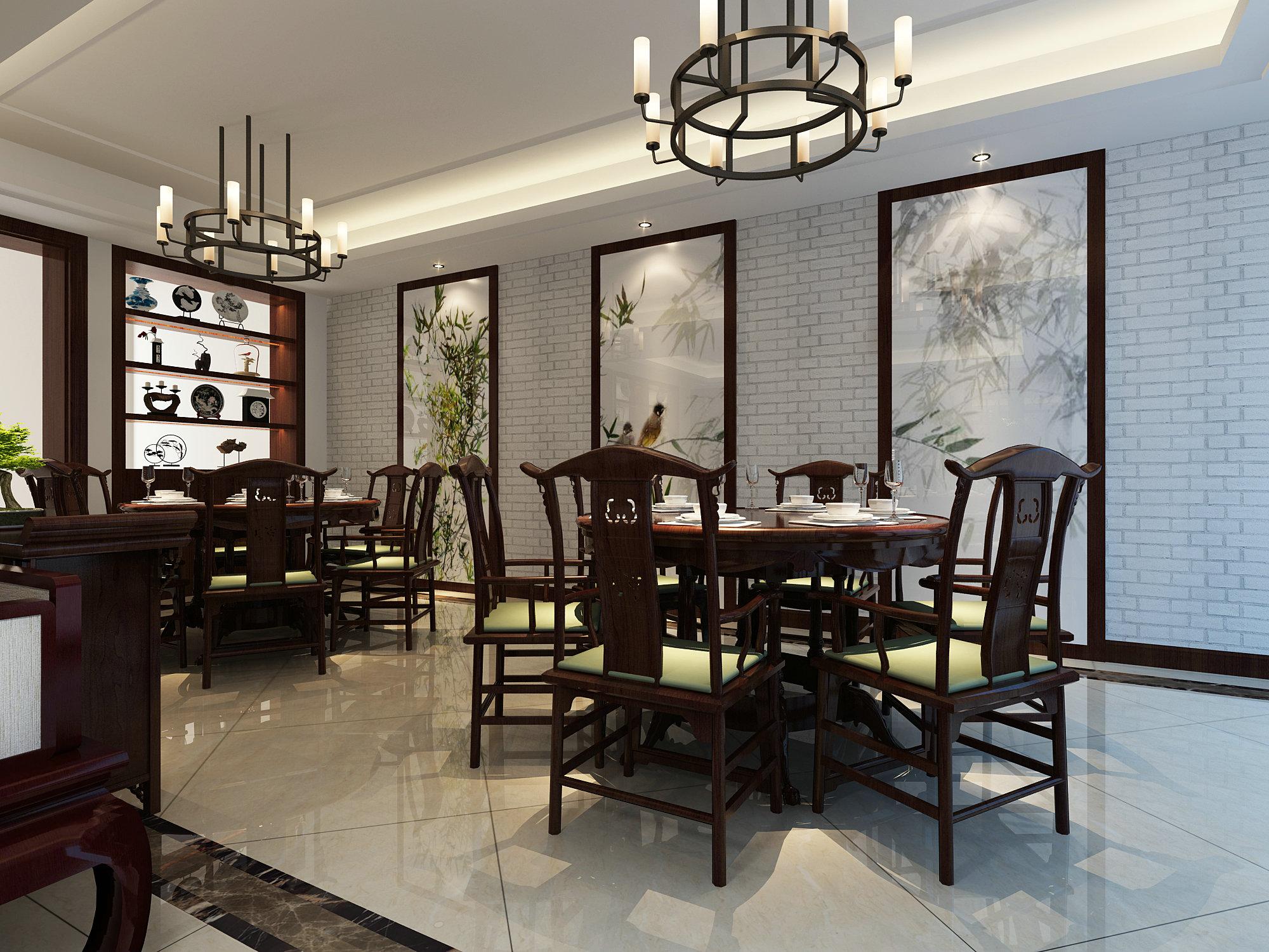 苏州桃花源 别墅装修 腾龙设计 中式风格 餐厅图片来自腾龙设计在苏州桃花源别墅欧式古典风格的分享