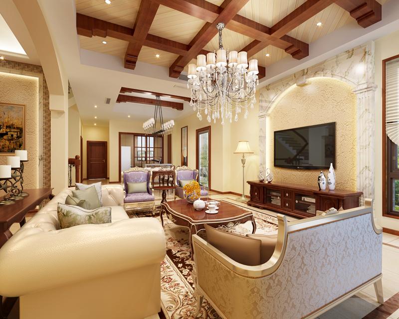 海上湾别墅 别墅装修设 中式风格 腾龙设计 客厅图片来自腾龙设计在海上湾别墅项目装修新中式风格的分享