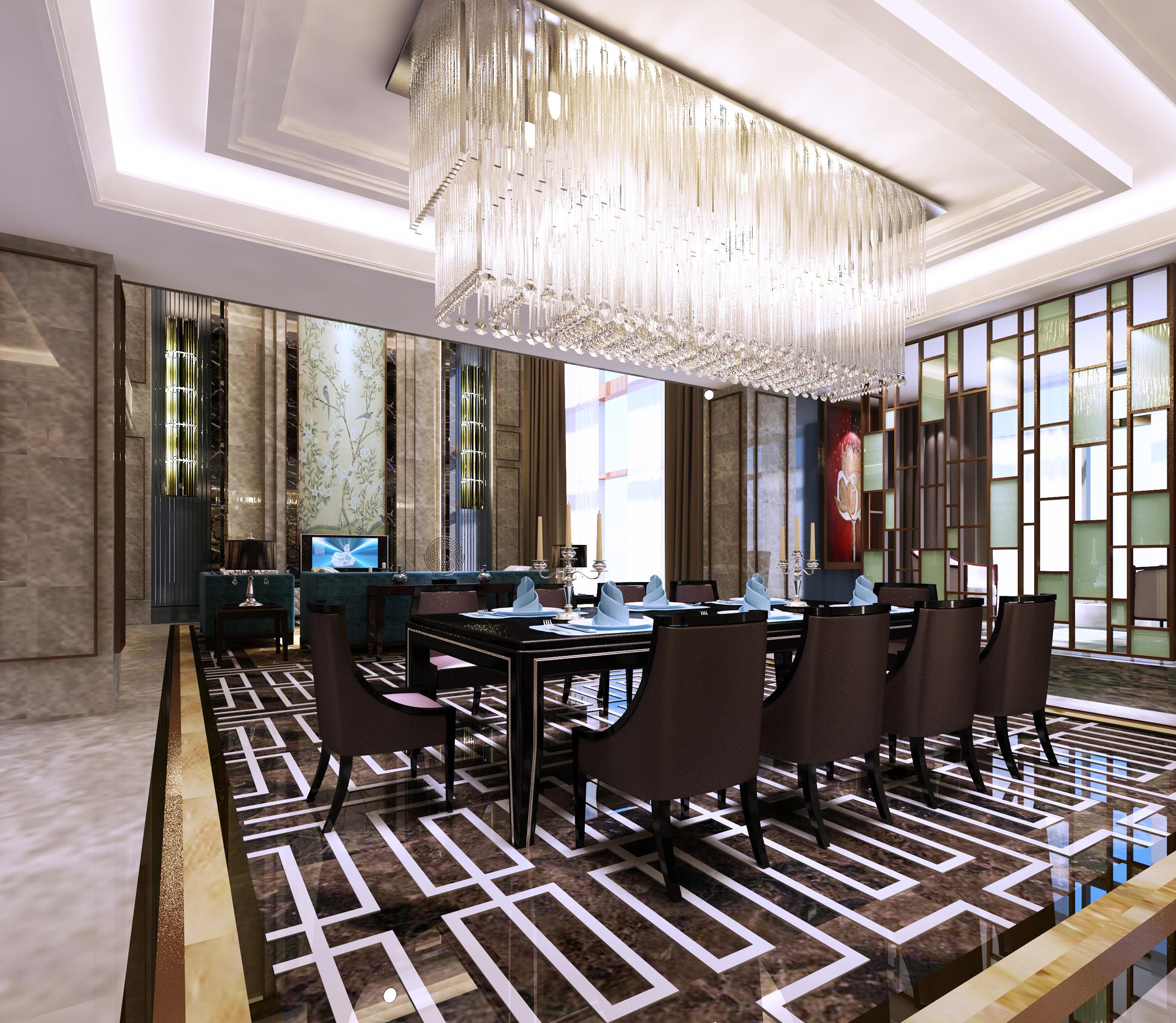 宝华源墅 别墅装修 法式风格 腾龙设计 餐厅图片来自腾龙设计在宝华源墅别墅装修法式风格设计的分享