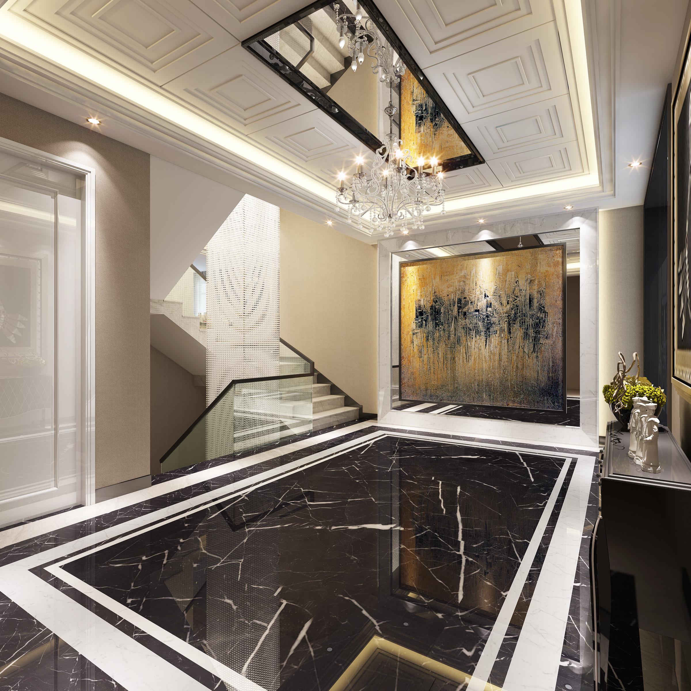 观庭别墅 别墅装修 美式风格 腾龙设计 楼梯图片来自腾龙设计在观庭别墅项目装修美式风格设计的分享
