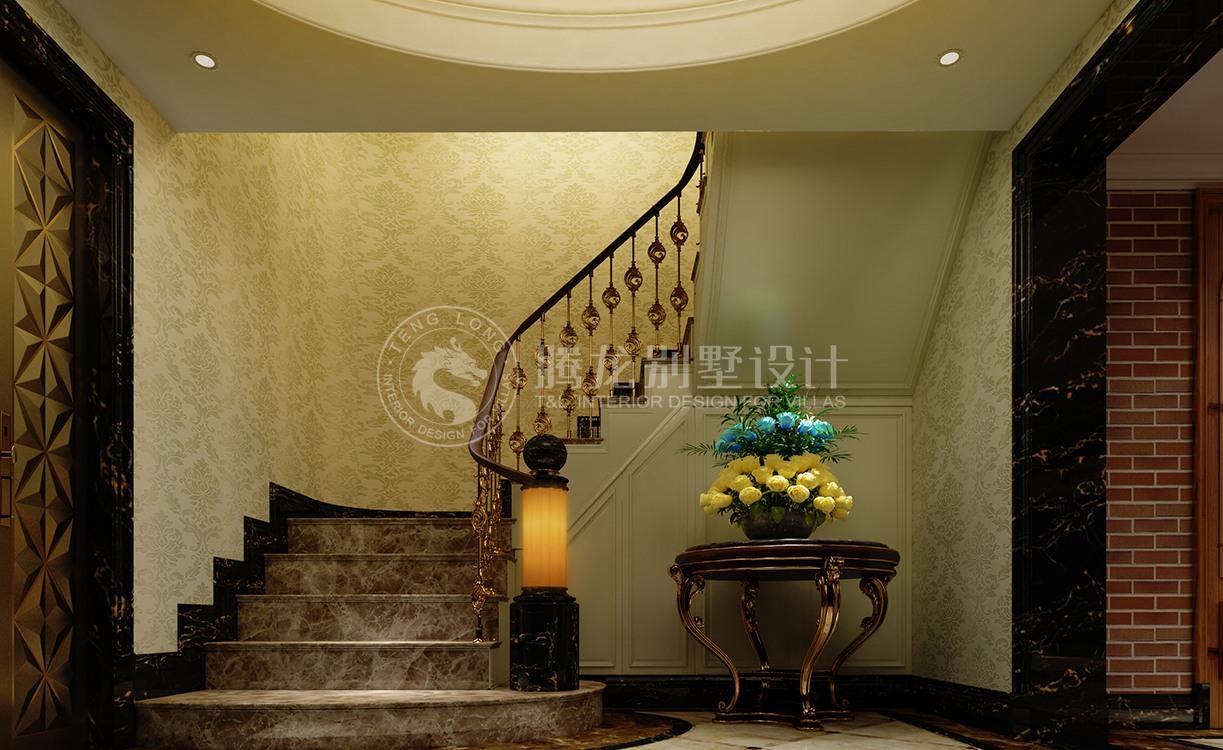 康桥半岛 别墅装修 欧美风格 腾龙设计 楼梯图片来自腾龙设计在康桥半岛350平别墅装修简美风格的分享