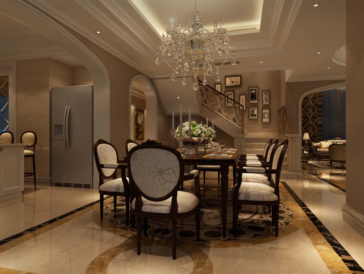 金臣别墅 新古典风格 腾龙设计 餐厅图片来自腾龙设计在金臣别墅项目装修法式风格设计的分享
