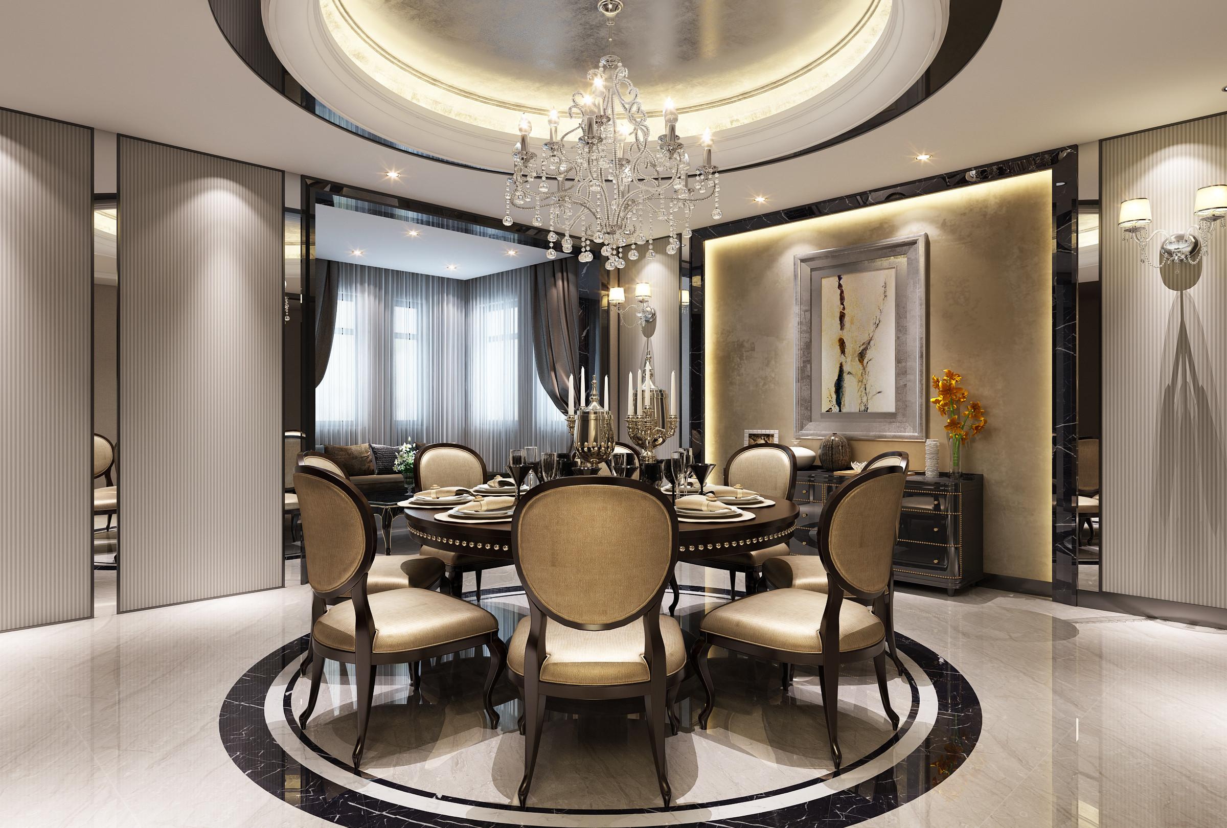 观庭别墅 别墅装修 美式风格 腾龙设计 餐厅图片来自腾龙设计在观庭别墅项目装修美式风格设计的分享
