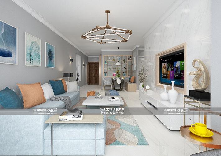 二居 繁华里 现代风格 客厅图片来自百家设计小刘在碧桂园繁华里85平现代风格的分享