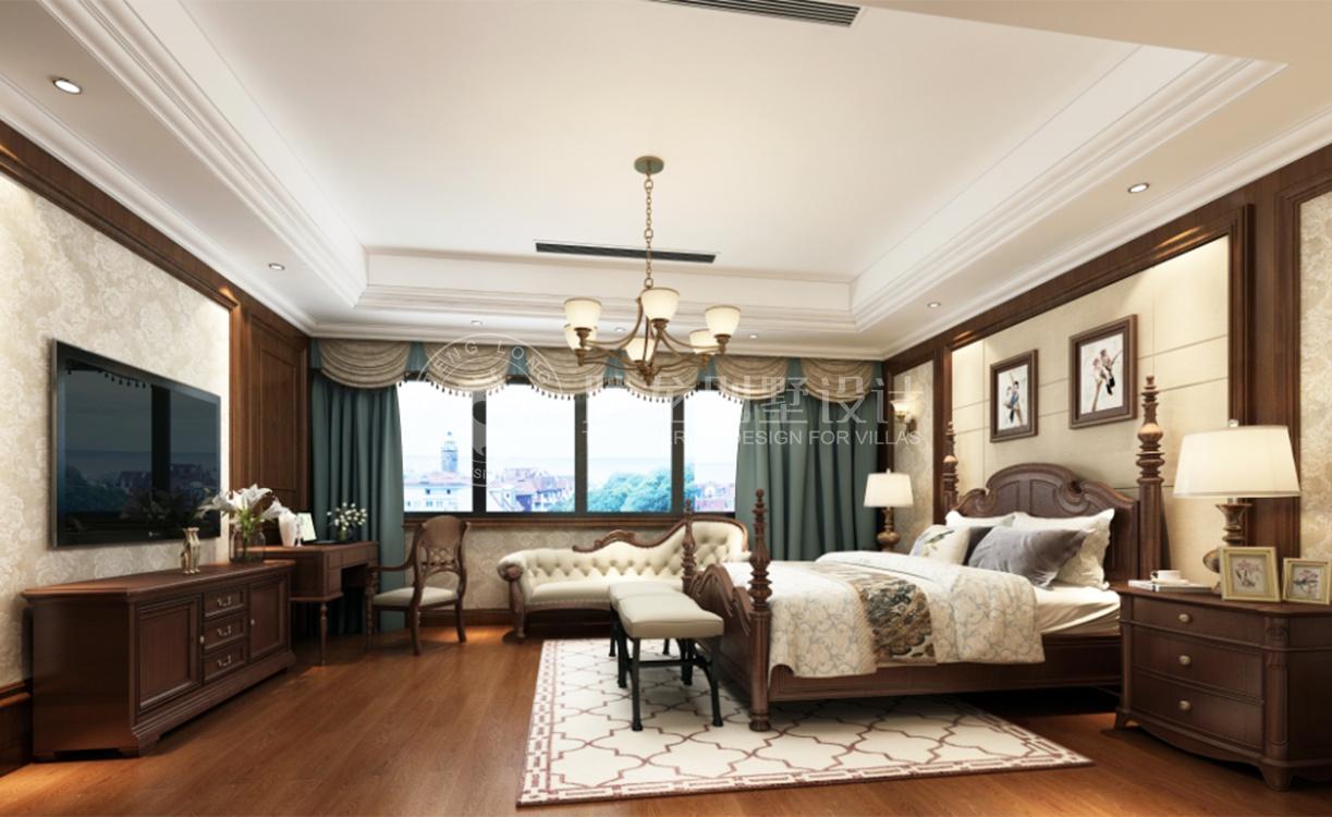 路劲翡丽湾 别墅装修 新古典 腾龙设计 卧室图片来自腾龙设计在路劲翡丽湾350平别墅新古典设计的分享