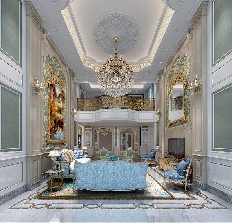 金都夏宫 别墅装修 欧式古典 腾龙设计 客厅图片来自腾龙设计在金都夏宫450平别墅装修欧式古典的分享