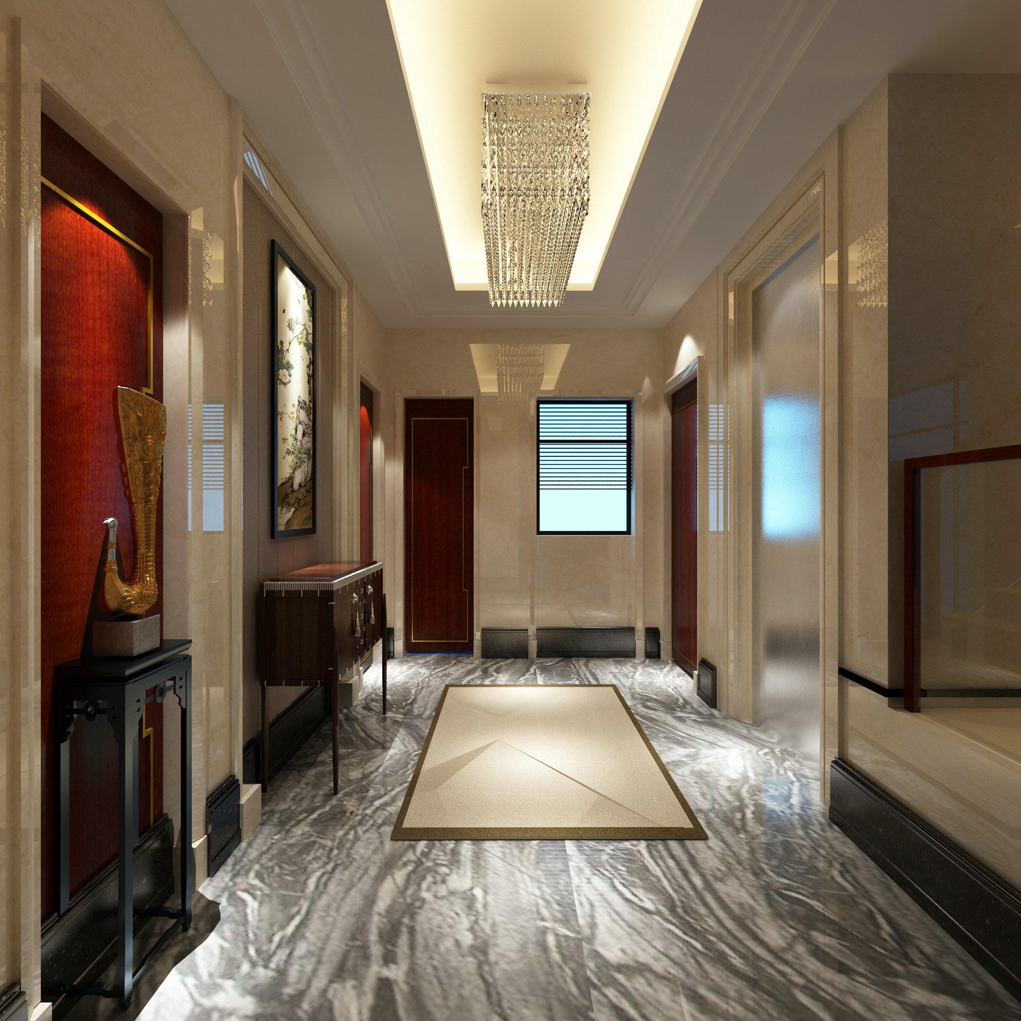 国宾一号 别墅装修 欧美风格 腾龙设计 玄关图片来自腾龙设计在国宾一号别墅装修欧美风格设计的分享