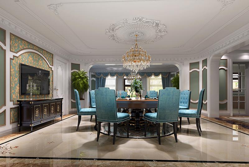 金都夏宫 别墅装修 欧式古典 腾龙设计 餐厅图片来自腾龙设计在金都夏宫450平别墅装修欧式古典的分享