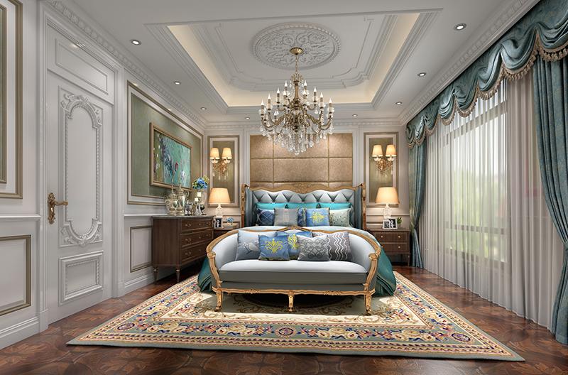 金都夏宫 别墅装修 欧式古典 腾龙设计 卧室图片来自腾龙设计在金都夏宫450平别墅装修欧式古典的分享