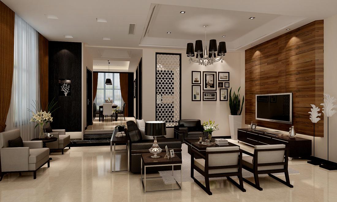 海上湾 别墅装修 现代风格 腾龙设计 客厅图片来自腾龙设计在海尚湾别墅项目装修现代风格设计的分享
