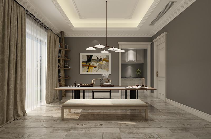 长泰西郊 别墅装修 欧式古典风 腾龙设计 餐厅图片来自腾龙设计在长泰西郊别墅项目装修新古典的分享