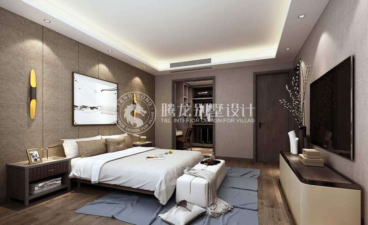 陆家嘴红醍 别墅装修 现代风格 腾龙设计 卧室图片来自腾龙设计在陆家嘴红醍半岛360平别墅装修的分享