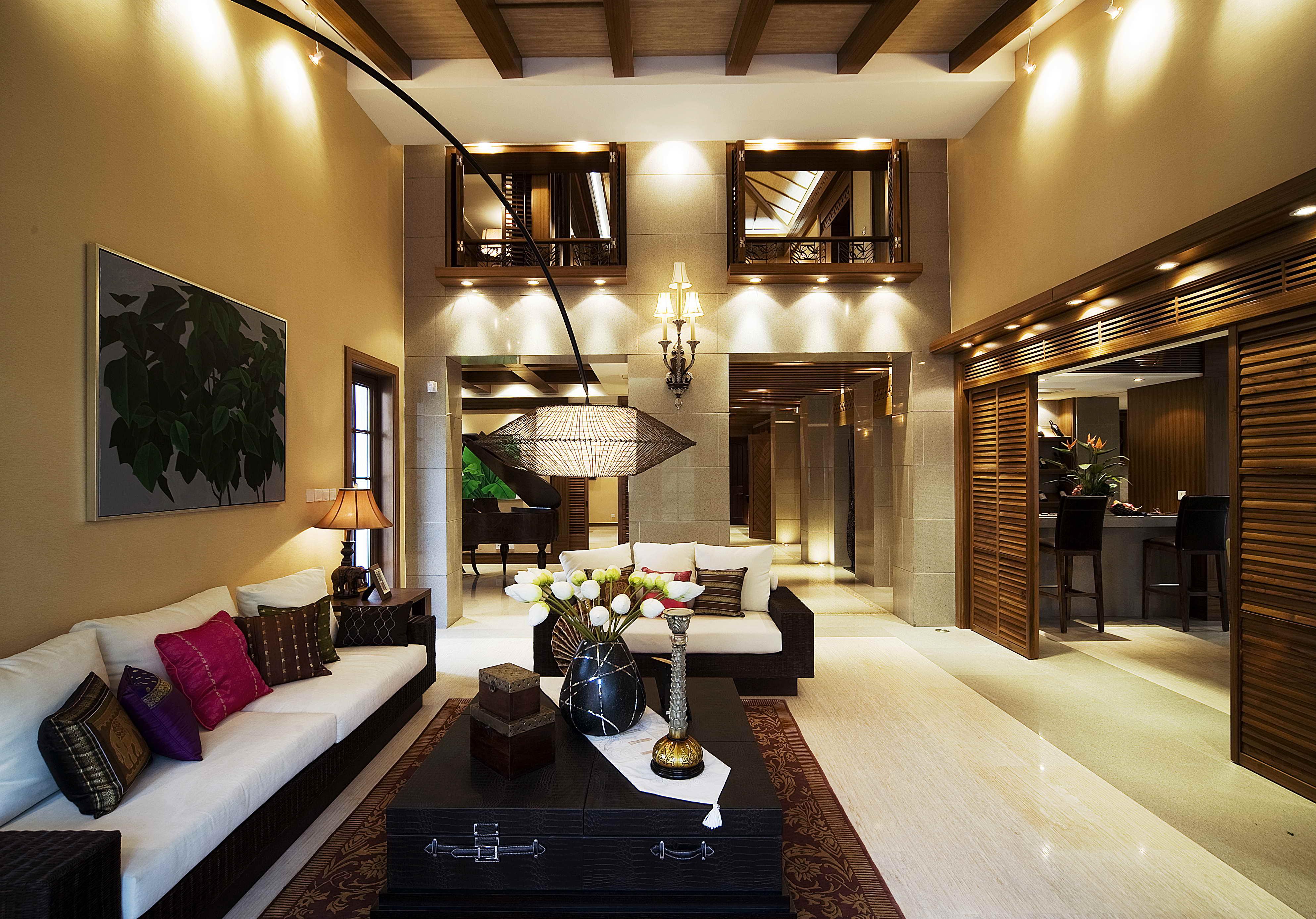 别墅装修 美式风格 腾龙设计 客厅图片来自腾龙设计在别墅装修美式风格设计案例展示的分享