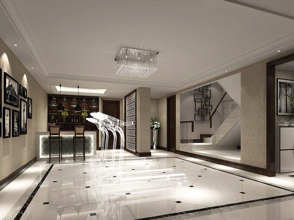 曹江公寓 装修设计 中式风格 腾龙设计 楼梯图片来自腾龙设计在曹江公寓复式装修新中式设计!的分享