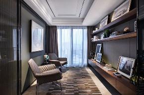 简约 现代 三居 四居 大户型 复式 跃层 80后 小资 书房图片来自高度国际姚吉智在160平米现代简约也可以装出范儿的分享