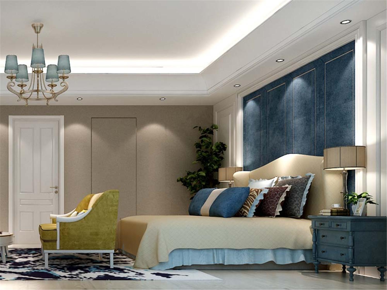 大华梧桐城 别墅装修 美式风格 腾龙设计 卧室图片来自腾龙设计在大华梧桐城邦别墅装修欧美风格的分享