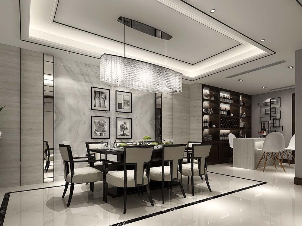 曹江公寓 装修设计 中式风格 腾龙设计 餐厅图片来自腾龙设计在曹江公寓复式装修新中式设计!的分享
