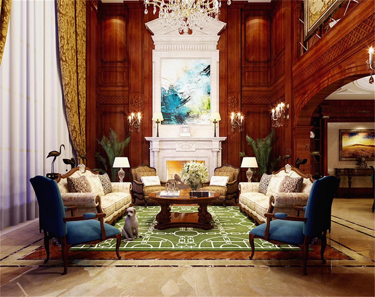 中星红庐 别墅装修 美式古典 腾龙设计 客厅图片来自孔继民在中星红庐别墅项目美式风格设计的分享