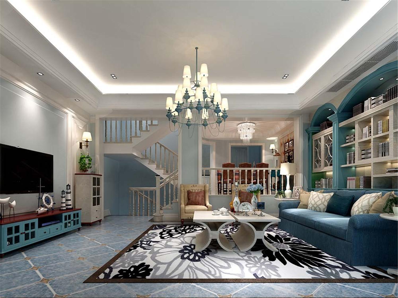 湖畔天下 别墅装修 地中海风格 腾龙设计 客厅图片来自孔继民在地中海风格别墅项目装修设计的分享