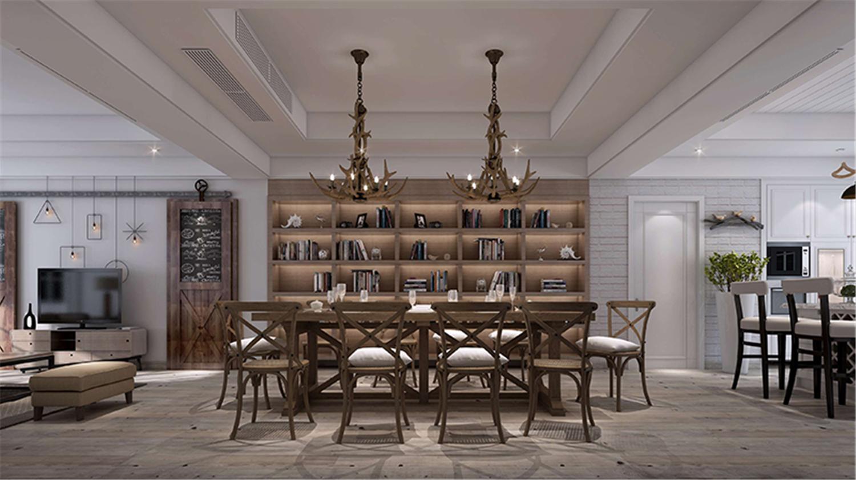 大豪山林 别墅装修 简欧风格 腾龙设计 餐厅图片来自腾龙设计在大豪山林450平别墅装修欧美风格的分享