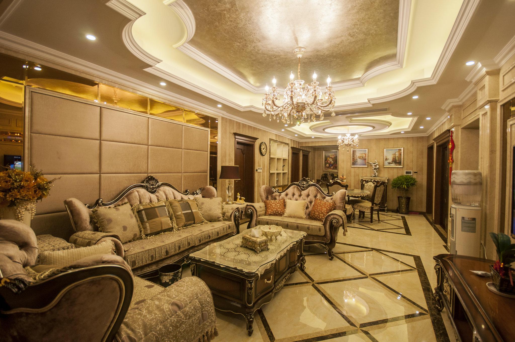 东方御花园 别墅装修 中式风格 腾龙设计 客厅图片来自腾龙设计在东方御花园别墅装修完工实景的分享