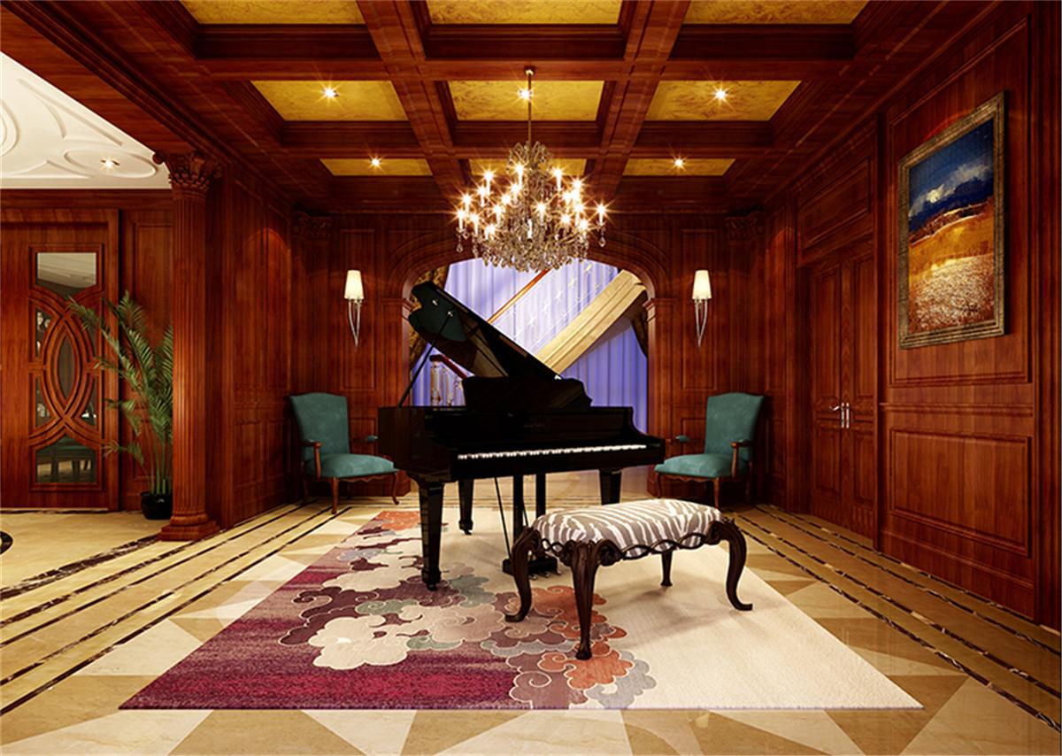 中星红庐 别墅装修 美式古典 腾龙设计 楼梯图片来自孔继民在中星红庐别墅项目美式风格设计的分享