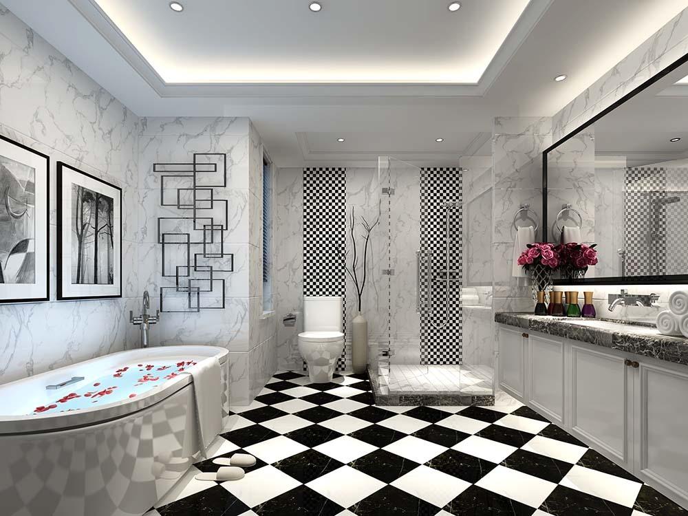 曹江公寓 装修设计 中式风格 腾龙设计 卫生间图片来自腾龙设计在曹江公寓复式装修新中式设计!的分享