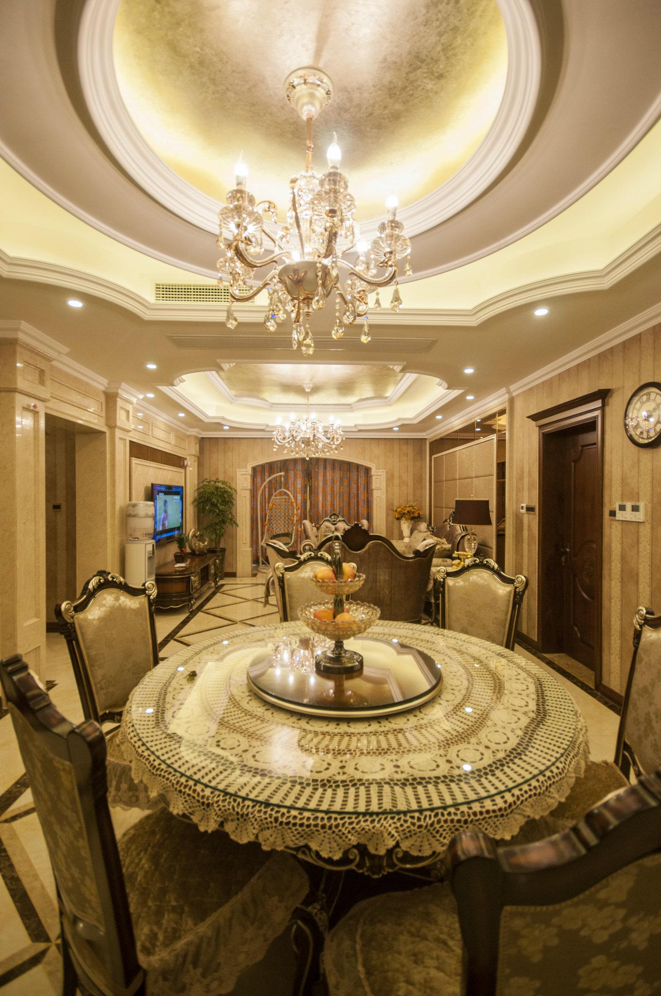 东方御花园 别墅装修 中式风格 腾龙设计 餐厅图片来自腾龙设计在东方御花园别墅装修完工实景的分享