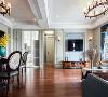 140㎡美式客厅