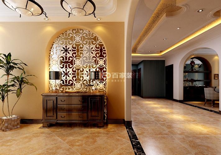 三居 绿城全运村 美式 客厅图片来自百家装饰LL在绿城全运村158的分享