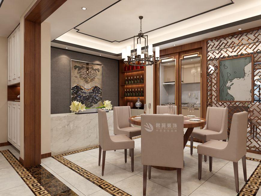 鲁班装饰 群贤道九号 中式装修 216平米 餐厅图片来自西安鲁班装饰装修在群贤道九号216平新中式装修的分享