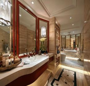 新古典 欧式 复式 跃层 大户型 别墅 80后 小资 卫生间图片来自高度国际姚吉智在171平米古典风里的档次雅致的分享