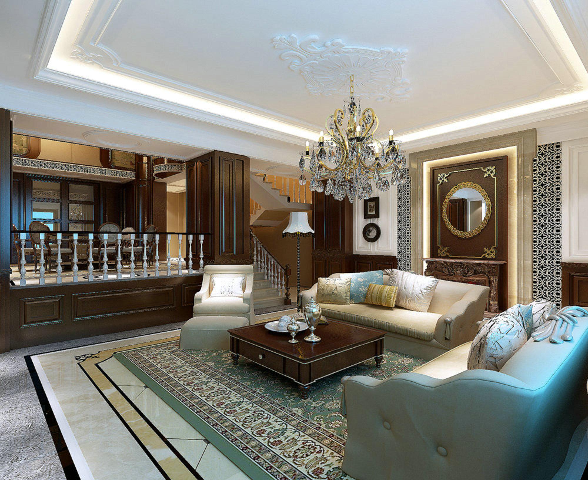 东方夏威夷 别墅装修 欧美古典 腾龙设计 客厅图片来自孔继民在东方夏威夷别墅装修美式古典的分享